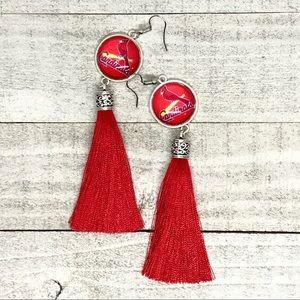 St. Louis Cardinals Inspired Tassel Earrings